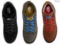 THE NORTH FACE Mountain Boots Street Style Bi-color Plain Leather Logo