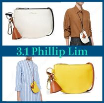 3.1 Phillip Lim Casual Style Tassel Bi-color Plain Leather Party Style
