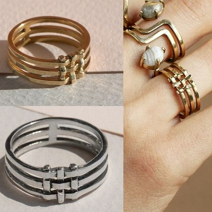 Costume Jewelry Silver Brass Rings