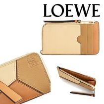 LOEWE PUZZLE Calfskin Long Wallet  Logo Coin Cases