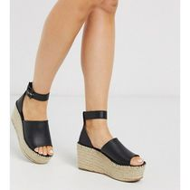Free People Open Toe Platform Plain Platform & Wedge Sandals