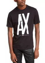 A/X Armani Exchange Henry Neck Short Sleeves Logos on the Sleeves Logo