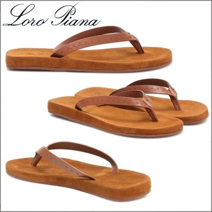 Round Toe Casual Style Suede Plain Leather Sandals Sandal