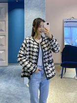 Zigzag Casual Style Street Style Bi-color Long Sleeves