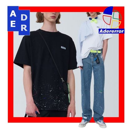 ADERERROR More T-Shirts Unisex Street Style Cotton T-Shirts