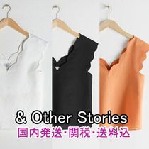 & Other Stories Casual Style Linen Sleeveless Plain Cotton Tanks & Camisoles
