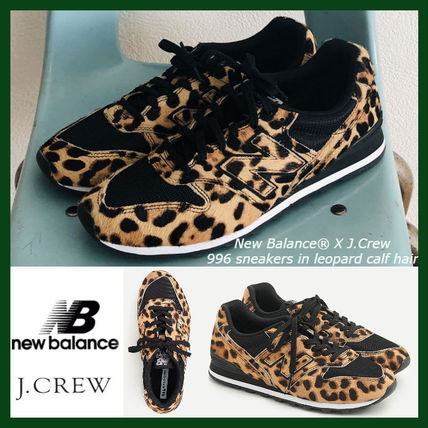 Leopard Patterns Unisex Street Style Collaboration Leather