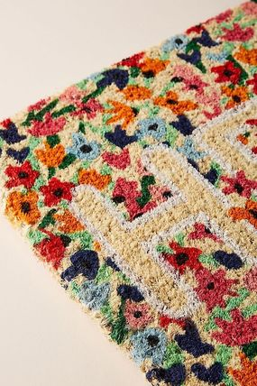 Flower Patterns Blended Fabrics Outdoor Mats & Rugs HOME