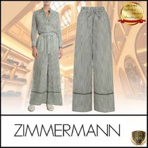 Zimmermann Stripes Casual Style Cotton Long Elegant Style Khaki