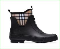 Burberry Other Plaid Patterns Street Style Plain Rain Boots Boots