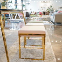 Unisex Gold Furniture Table & Chair