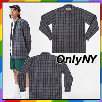 Other Plaid Patterns Blended Fabrics Street Style