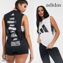 adidas Street Style Plain Cotton Logo Tanks & Camisoles