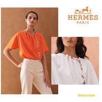 HERMES Plain Cotton T-Shirts