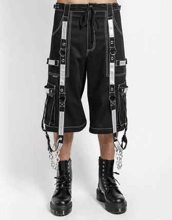 Street Style Chain Cargo Pants