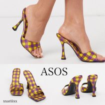 ASOS Other Plaid Patterns Open Toe Casual Style Party Style