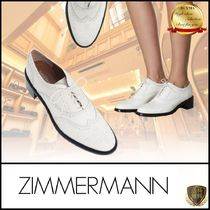 Zimmermann Plain Toe Casual Style Plain Leather Party Style