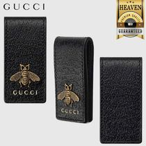 GUCCI Animalier Leather Money Clip