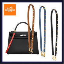 HERMES Casual Style Calfskin Studded Plain Leather Party Style