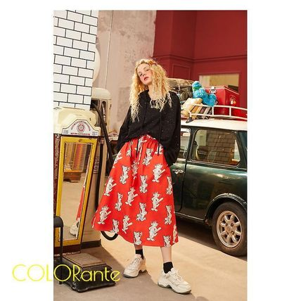Casual Style Street Style Skirts