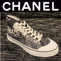 CHANEL SPORTS Flower Patterns Unisex Blended Fabrics Street Style Handmade