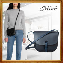 Mimi Casual Style Plain Leather Party Style Office Style