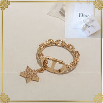 Christian Dior Costume Jewelry Brass With Jewels Elegant Style Rings