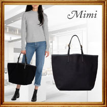 Mimi Casual Style A4 2WAY Plain Party Style Office Style