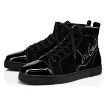 Christian Louboutin Suede Plain Leather Logo Sneakers