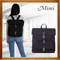 Mimi Casual Style A4 2WAY Plain Leather Party Style Office Style