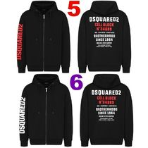 D SQUARED2 Hoodies Unisex Street Style Long Sleeves Logos on the Sleeves Logo 4