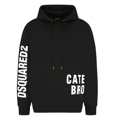 D SQUARED2 Hoodies Unisex Street Style Long Sleeves Logos on the Sleeves Logo 5