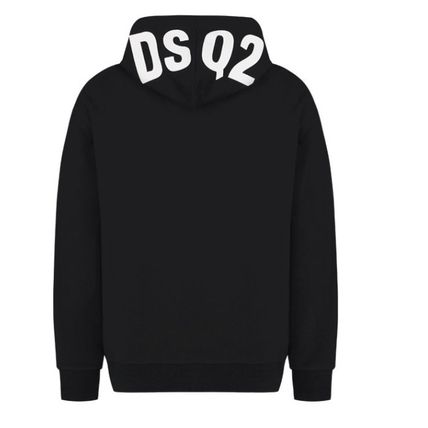 D SQUARED2 Hoodies Unisex Street Style Long Sleeves Logos on the Sleeves Logo 10