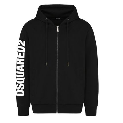 D SQUARED2 Hoodies Unisex Street Style Long Sleeves Logos on the Sleeves Logo 15