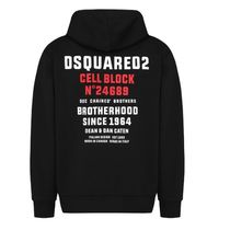D SQUARED2 Hoodies Unisex Street Style Long Sleeves Logos on the Sleeves Logo 16