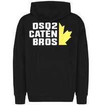 D SQUARED2 Hoodies Unisex Street Style Long Sleeves Logos on the Sleeves Logo 12
