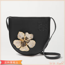 LOEWE Plain Leather With Jewels Crossbody Glitter Shoulder Bags