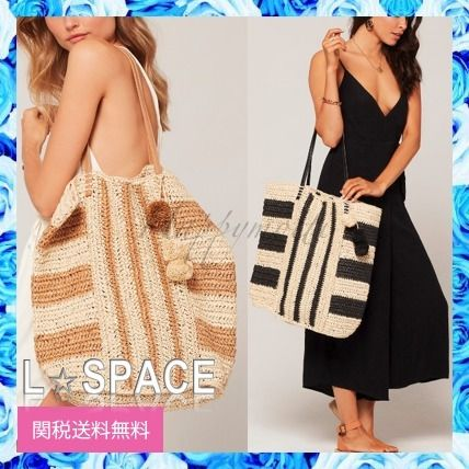Stripes A4 Straw Bags
