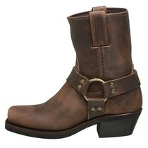 FRYE Square Toe Plain Leather Mid Heel Boots