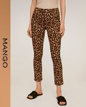 MANGO Leopard Patterns Casual Style Skinny Pants