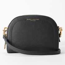 MARC JACOBS Casual Style Plain Leather Crossbody Logo Shoulder Bags