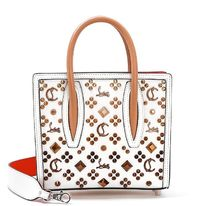 Christian Louboutin Paloma Studded Leather Crossbody Logo Totes
