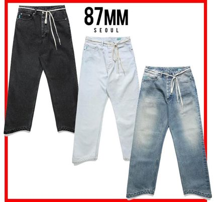 87MM More Jeans Unisex Street Style Cotton Jeans