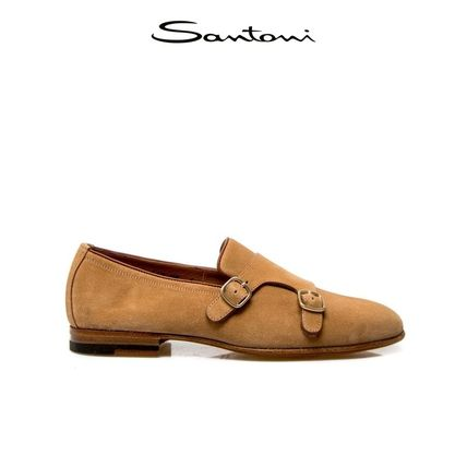 Suede Plain Logo Loafers & Slip-ons