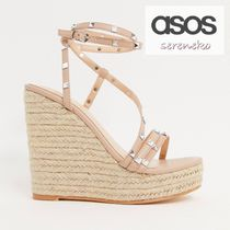 PUBLIC DESIRE Open Toe Studded Platform & Wedge Sandals