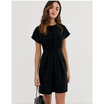 ASOS Short U-Neck Plain Short Sleeves Party Style Office Style
