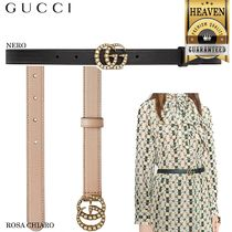 GUCCI Leather Belt With Interlocking G Horsebit