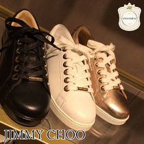 Jimmy Choo Leather Low-Top Sneakers
