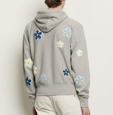 Flower Patterns Long Sleeves Cotton Hoodies