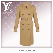 Louis Vuitton Casual Style Wool Nylon Blended Fabrics Plain Leather